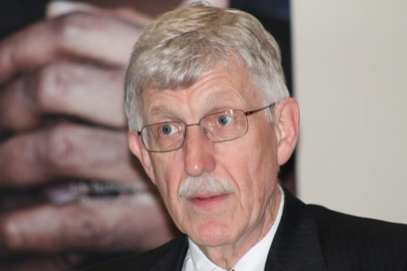 Francis Collins, former leader of the Human Genome Project, today serves as director of the National Institutes of Health. He visited Life Technologies in Carlsbad on Thursday.