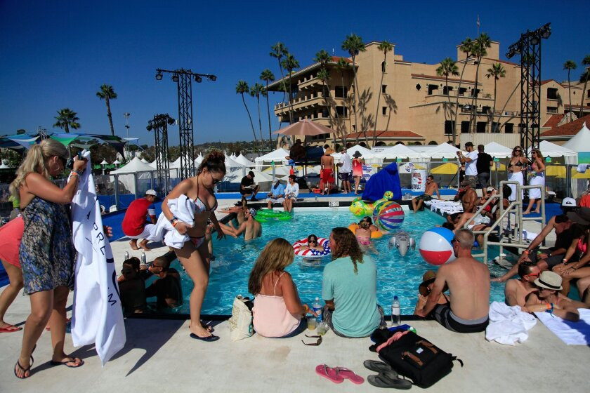 VIP guests bask in the sun at KAABOO Del Mar Saturday.