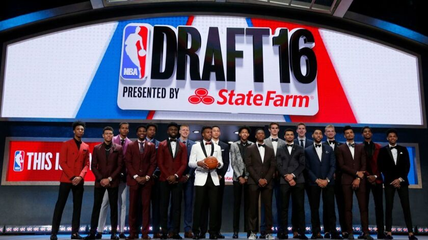 Players of the 2016 NBA Draft during photo session on Thursday, June 23, 2016, from Barclays Center