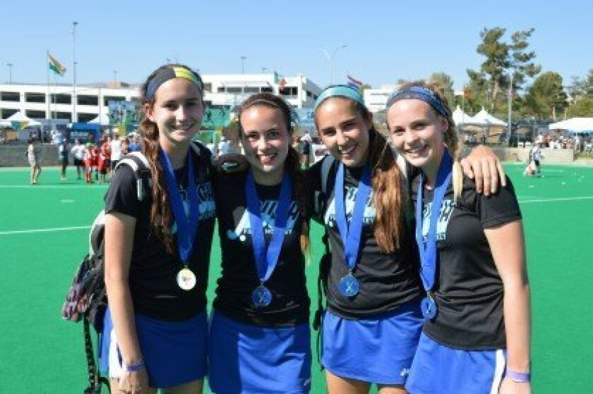 New state champs (left to right): Gabi Jimenez, Clare Young, Farah Farjood and Shannon Yogerst.
