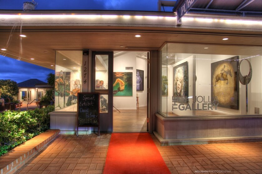 Rolling out the red carpet at The La Jolla Gallery, 1274 Prospect St., La Jolla.