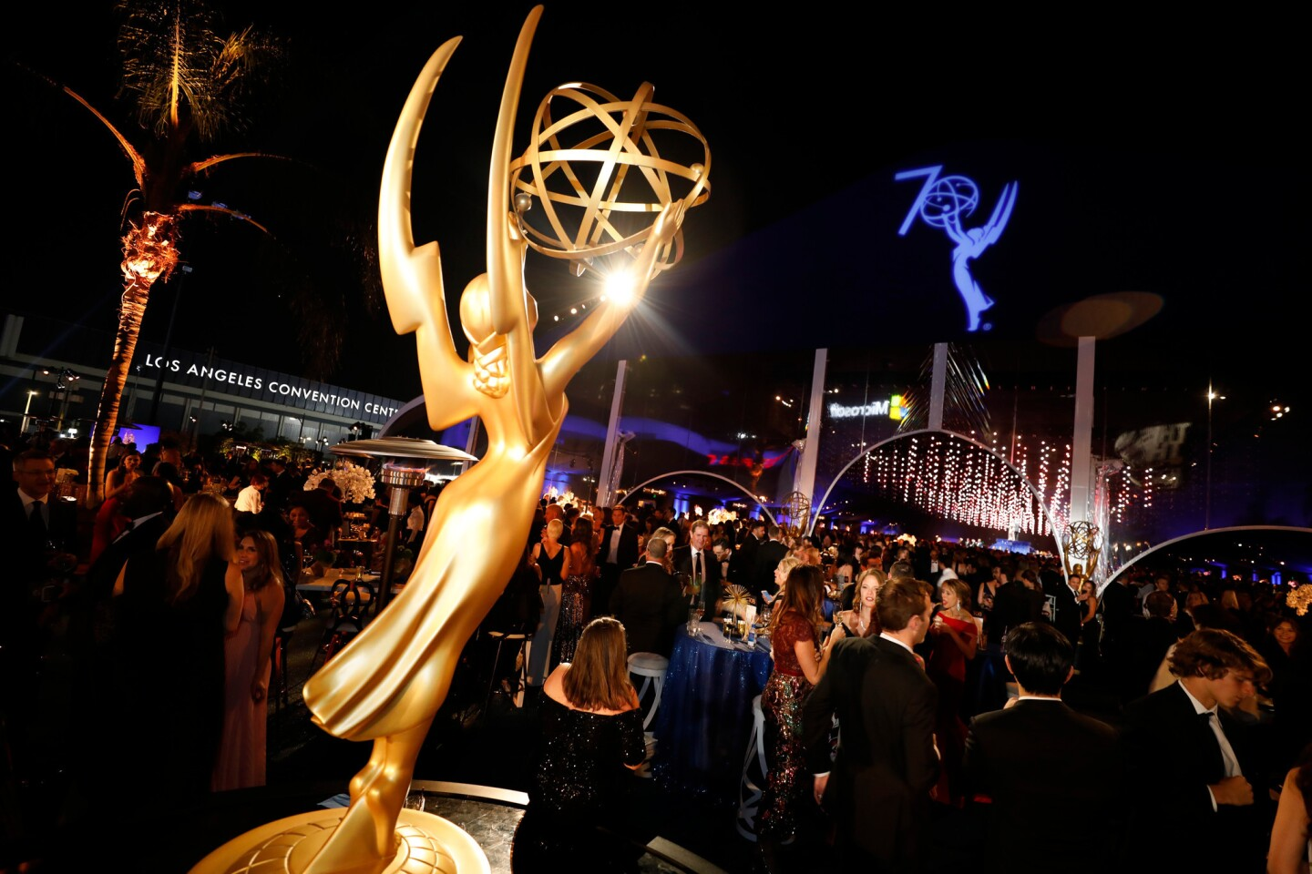 The scene at the Governors Ball on the L.A. LIVE Event Deck after the 70th Primetime Emmy Awards.