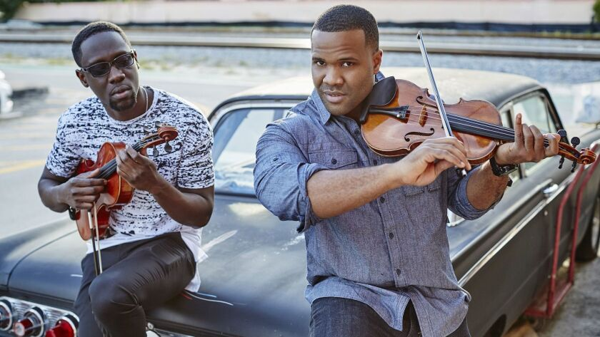 Wil B. (left) and Kev Marcus of Black Violin. Colin Brennan photo
