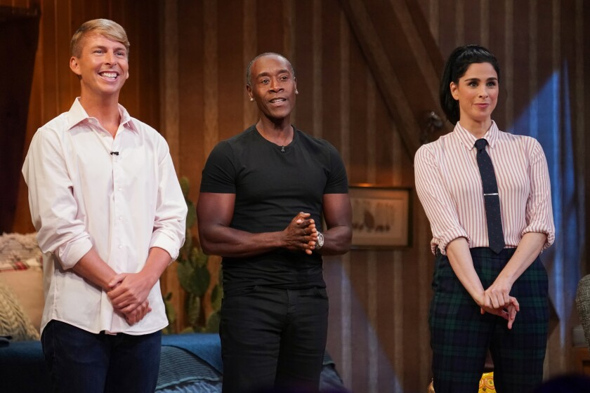 "Jack McBrayer, Don Cheadle and Sarah Silverman on ""I Love You, America"""