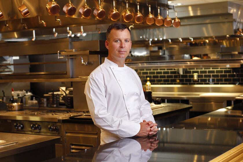 Chef William Bradley in his kitchen at Addison.