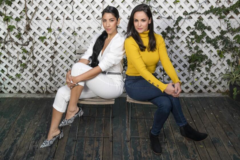"""HOLLYWOOD, CA-FEBRUARY 22, 2019: """"Brooklyn Nine-Nine"""" stars Stephanie Beatriz, left, and Melissa Fu"""