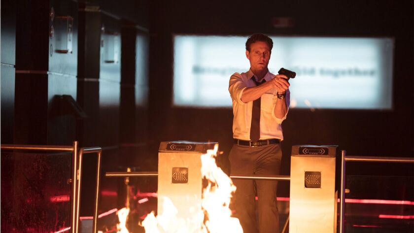 "Tony Goldwyn as Barry Norris in ""The Belko Experiment."" Credit: Hector Alvarez / Orion Pictures"