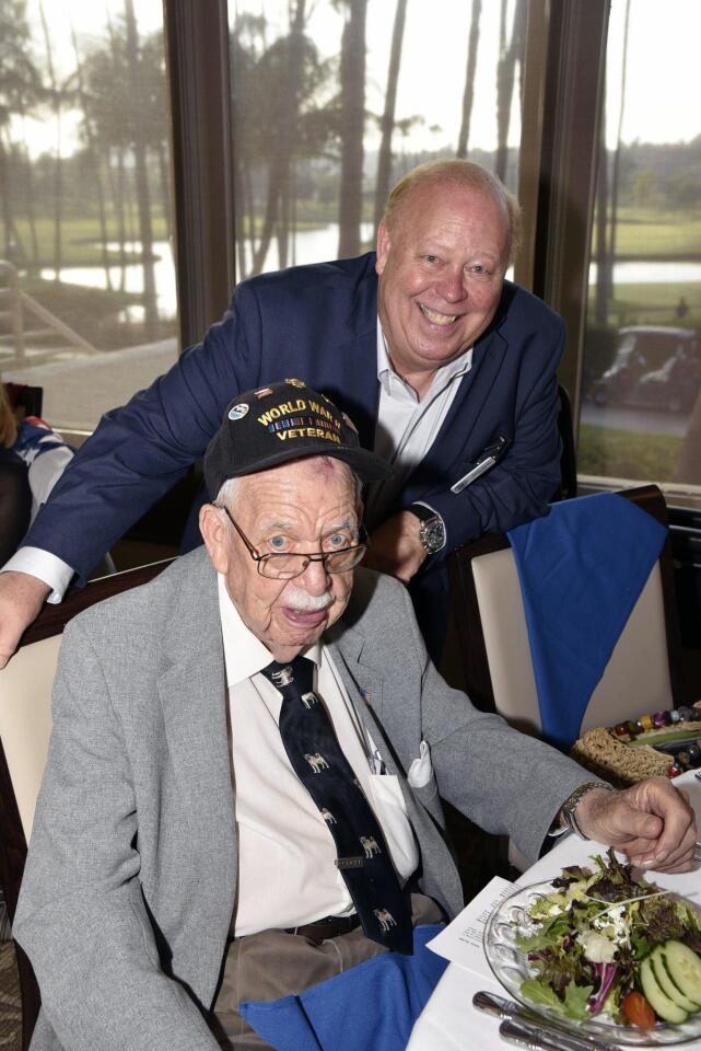 Founder/Past Chairman/Treasurer Dave Smith, with his father,World War 2 veteran Arthur Smith