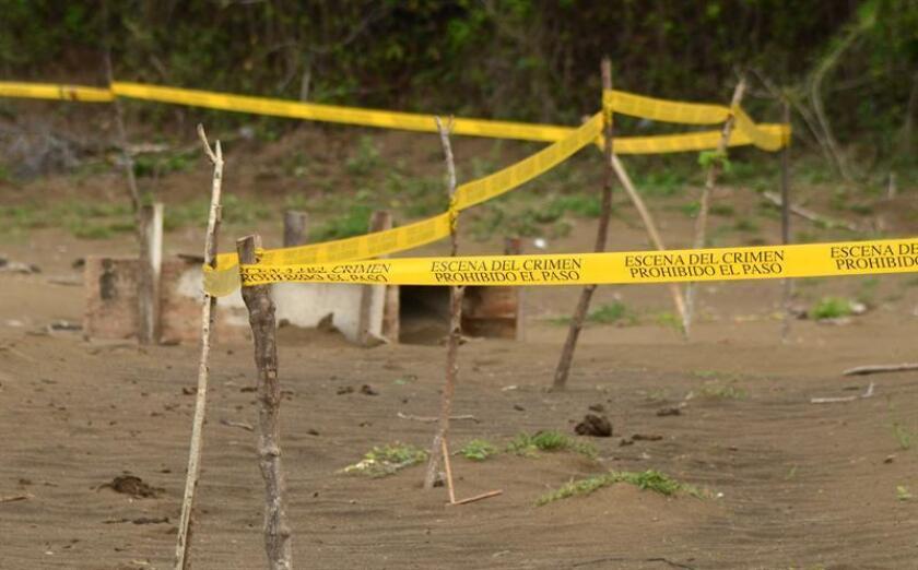 El Gobierno del sureño estado mexicano de Guerrero informó hoy del hallazgo de restos humanos de al menos ocho personas en una fosa clandestina descubierta hace dos días en la ciudad de Chilpancingo. EFE/ARCHIVO