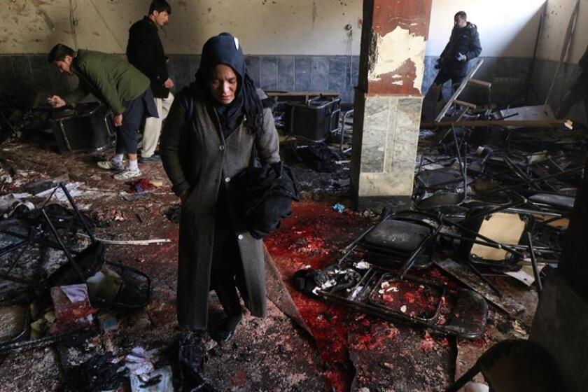 """El Gobierno condenó hoy el """"bárbaro"""" atentado contra una escuela coránica en Kabul, en el que fallecieron al menos 40 personas y más de 30 resultaron heridas, y expresó sus """"más sentidas condolencias"""" a las víctimas y sus familiares. EFE"""