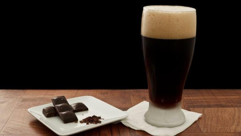 Beer and dark chocolate.