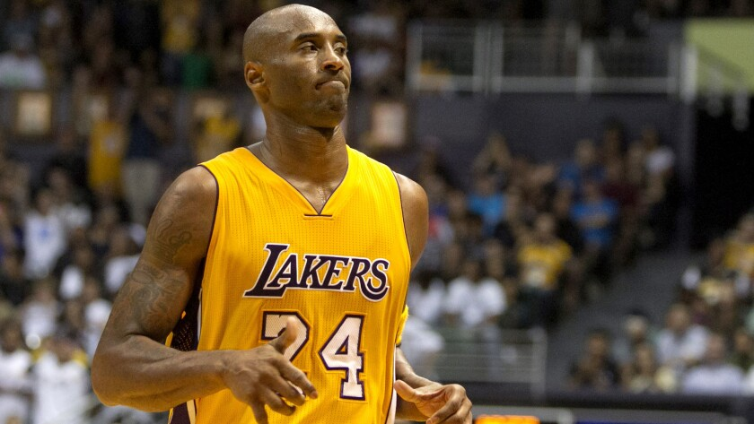 Lakers guard Kobe Bryant will miss Saturday's preseason game in San Diego against the Golden State Warriors with a bruised leg.