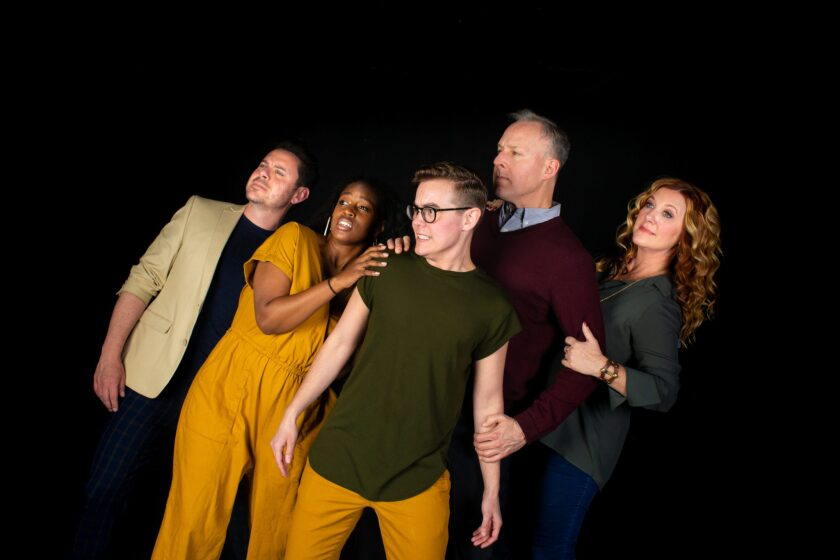 "The cast of Diversionary Theatre's ""A Kind of Weather."""