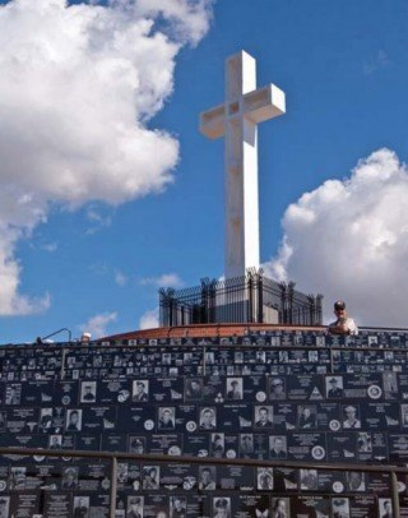 The Mount Soledad Veterans Memorial is the only memorial with photo engraved granite plaques, and war records dating back to the Civil War, according to retired Col. Robert Porter, a trustee from the Mount Soledad Memorial Association. Dolwain Green