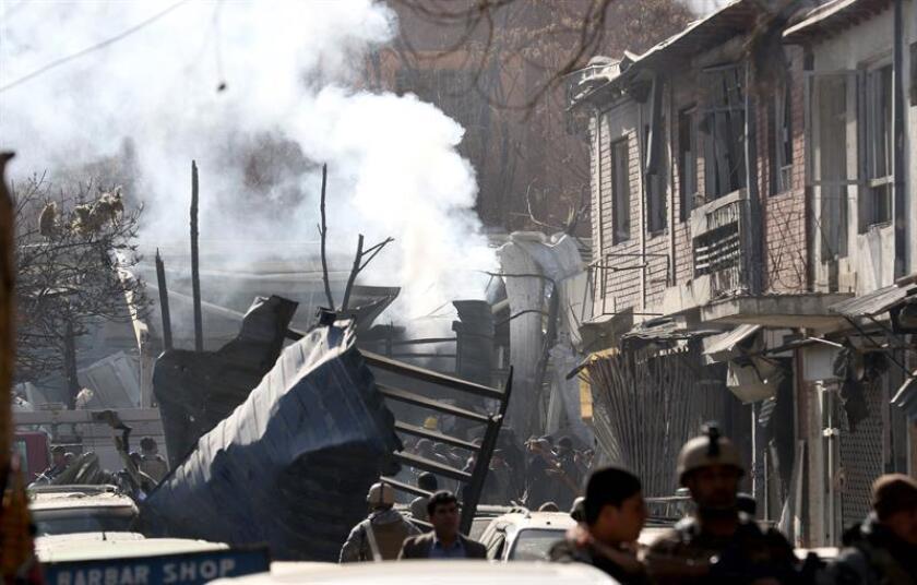 """El secretario general de la ONU, António Guterres, condenó hoy el """"mortífero"""" ataque terrorista que causó hoy un centenar de muertos en Kabul, cuya autoría se han atribuido los talibanes. EFE/EPA"""