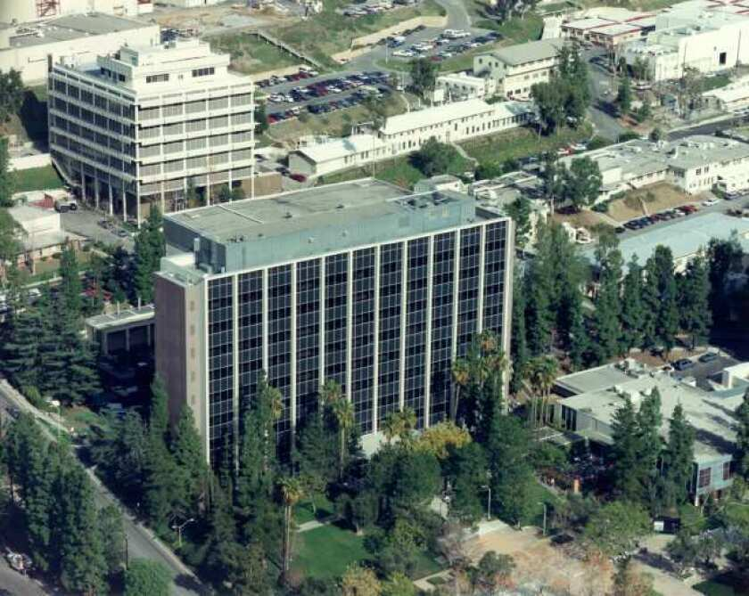 The Jet Propulsion Laboratory campus.