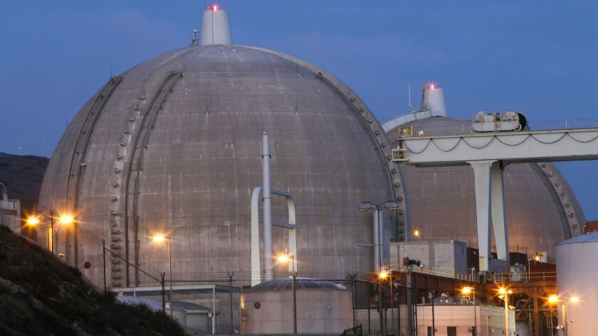 The San Onofre Nuclear Generating Station in August 2018