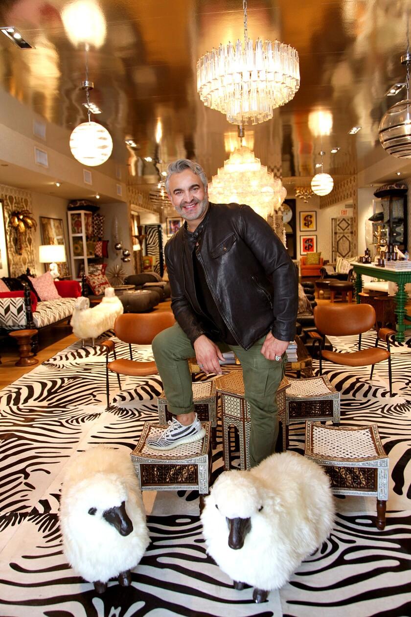 LOS ANGELES, CA., AUGUST 2, 2018--Martyn Lawrence Bullard is an English interior designer in Los An