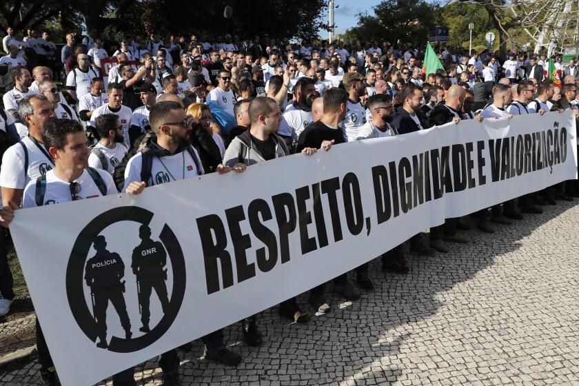 Portugal Police Protest