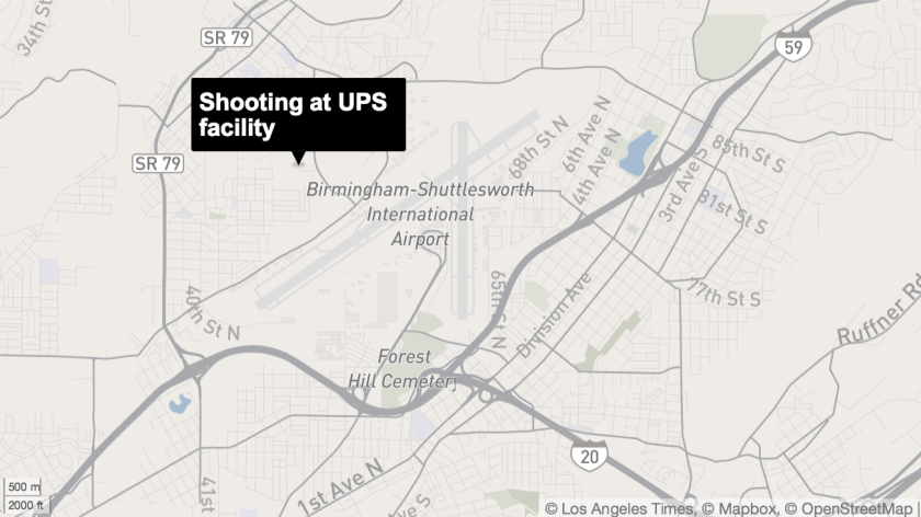 Shooting reported at Birmingham UPS facility