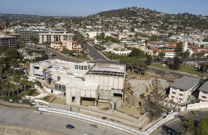 The La Jolla campus of the Museum of Contemporary Art San Diego in the midst of renovation.