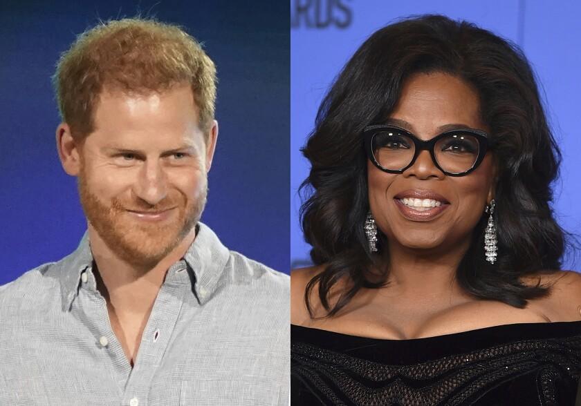 El príncipe Enrique, y Oprah Winfrey