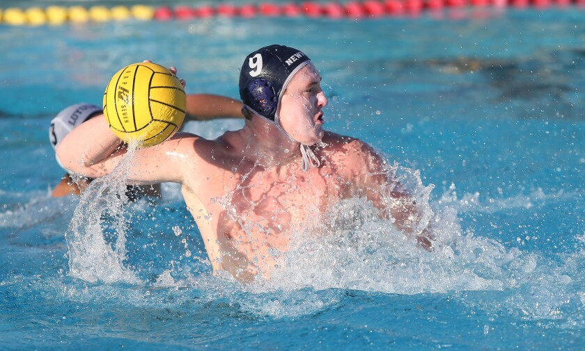 Newport Harbor senior Ike Love, shown shooting against Los Angeles Loyola on Nov. 23, 2019, was again the pick for the Surf League's best player.