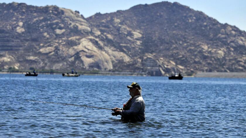 Foto de archivo del lago Perris, en California.