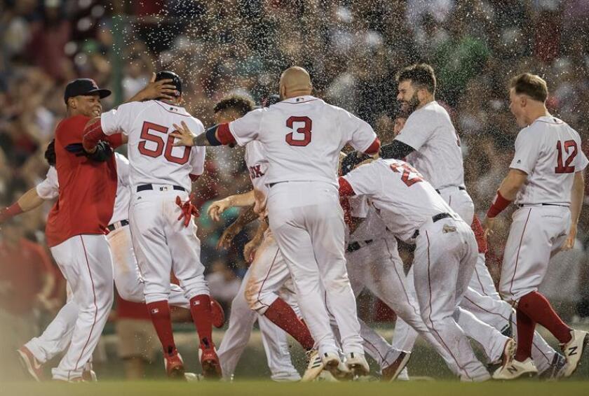 Imagen del partido entre Los Medias Rojas de Boston ante los Yanquis de Nueva York. EFE