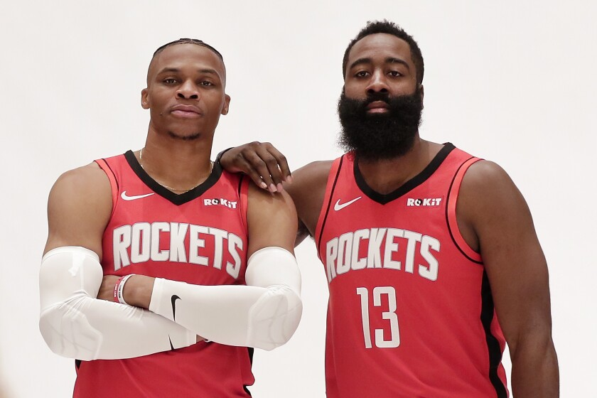 Russell Westbrook and James Harden give the Rockets perhaps the most dynamic duo in the NBA.