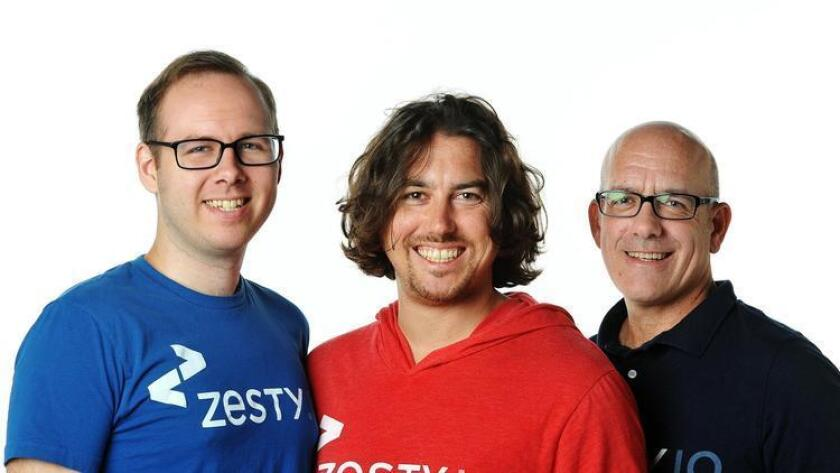 Left to right, Andy Fleming, Randy Apuzzo and Gerry Widmer of Zesty.io. (Rick Nocon)