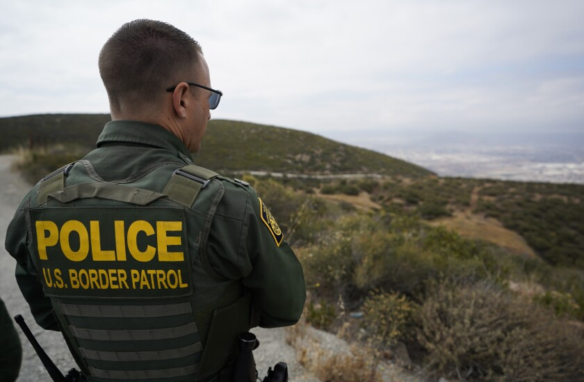 Border Patrol tours an area where larger number of noncitizens are making multiple border crossing attempts