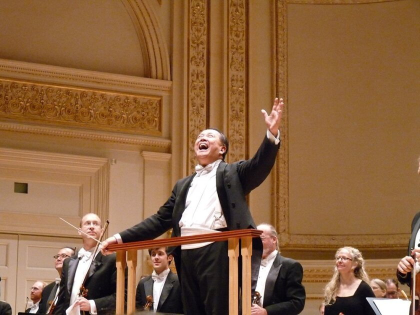 Conductor Jahja Ling and the San Diego Symphony performed their first concert at Carnegie Hall before a sold-out audience.