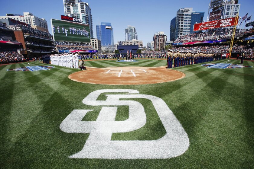 It was Military Appreciation Day to Petco Park of for the Padres-Giants game.
