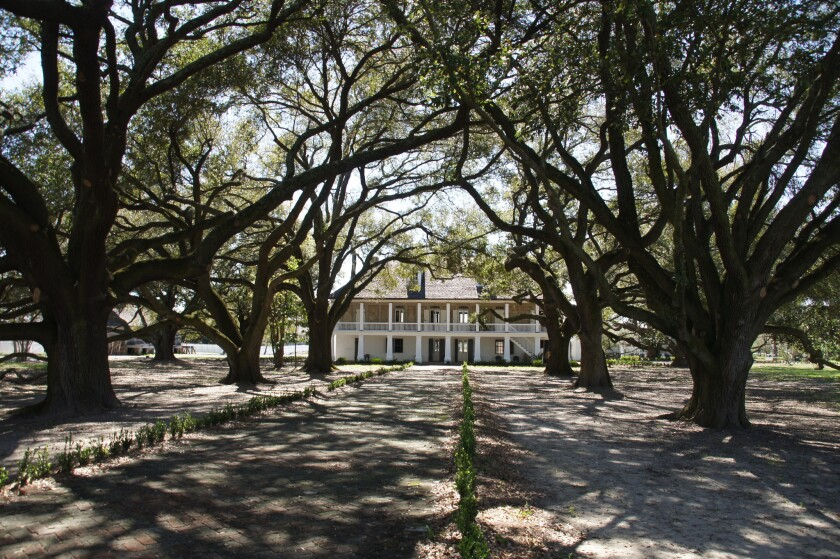 Looking at the main or Big House of the Whitney Plantation in Wallace, La.