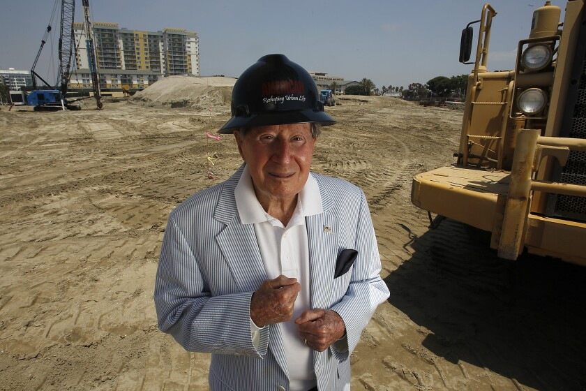 Developer Jerry Epstein, in 2011, at Via Marina and Marquesas Way in Marina del Rey.