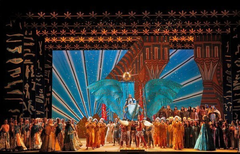 "Zandra Rhodes design for ""Aida"""