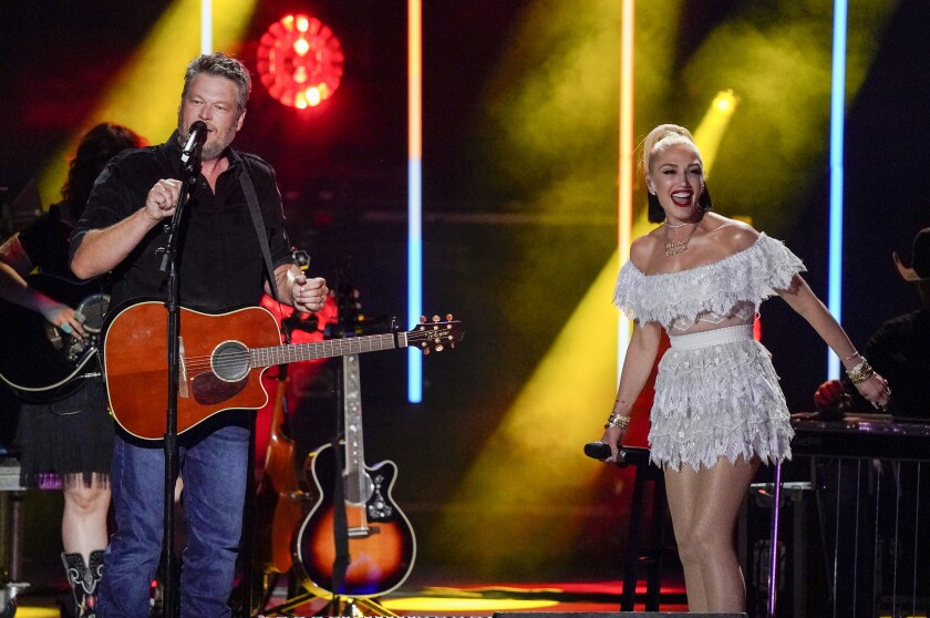 """Blake Shelton and Gwen Stefani at """"CMA Summer Jam"""""""