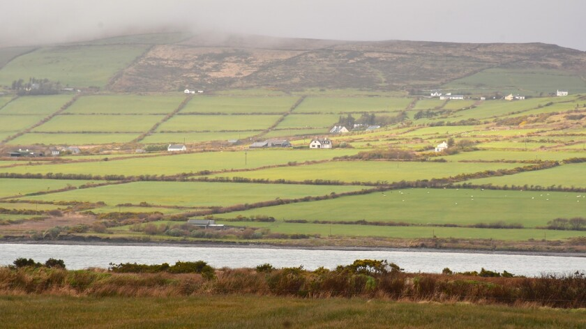 View of Valentia Island from outside Portmagee, Ivaragh Peninsula, County Kerry, Ireland.