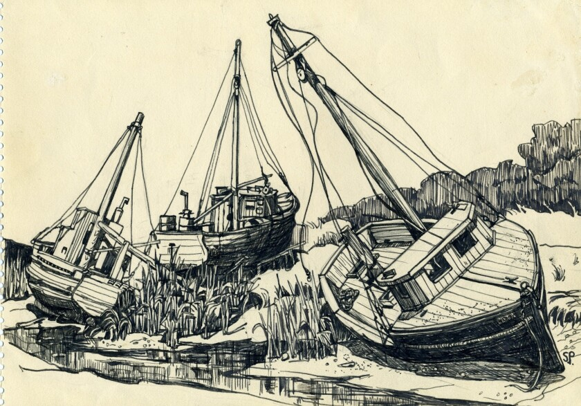 "Sylvia Plath, ""Boat off Rock Harbour, Cape Cod."""