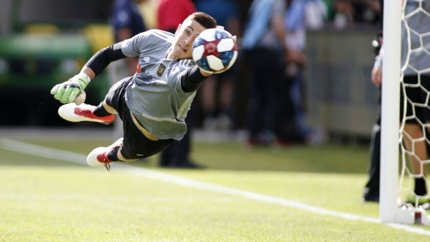 Pablo Sisniega will get his first start in goal for LAFC on Tuesday against Real Salt Lake in Utah.