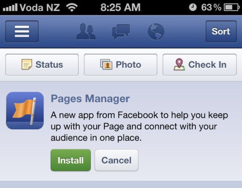 Facebook has launched Pages Manager, its third iPhone app, in New Zealand. It is expected to be available in the U.S. soon.