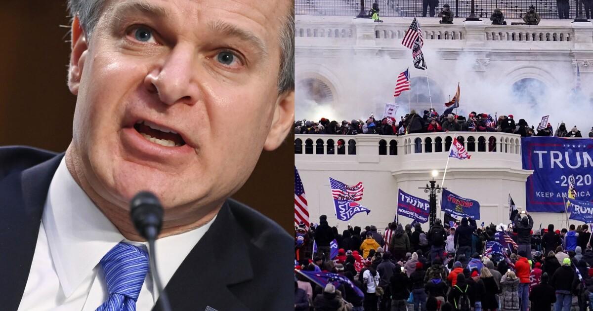 FBI Director Wray calls Capitol riot 'domestic terrorism' - Los Angeles Times
