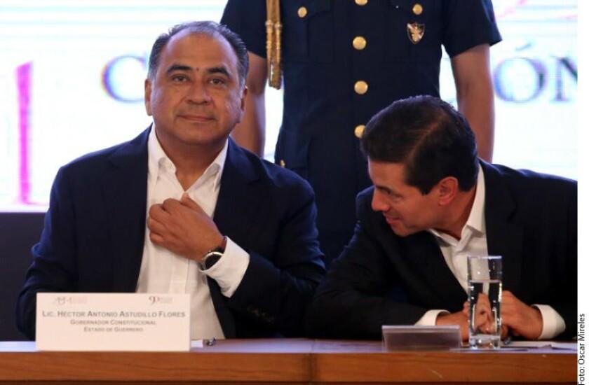 El Gobernador de Guerrero, Héctor Astudillo, destacó ante el Presidente Enrique Peña Nieto que la entidad ha tenido un repunte en el sector turístico a pesar de los problemas y retos que enfrenta.