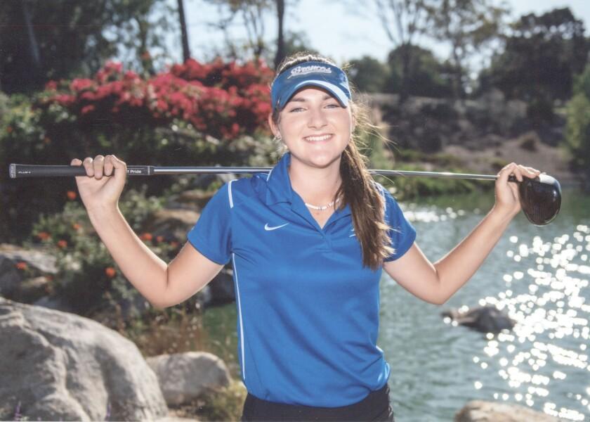 Lauren Coast is a senior on Rancho Bernardo High's golf team.