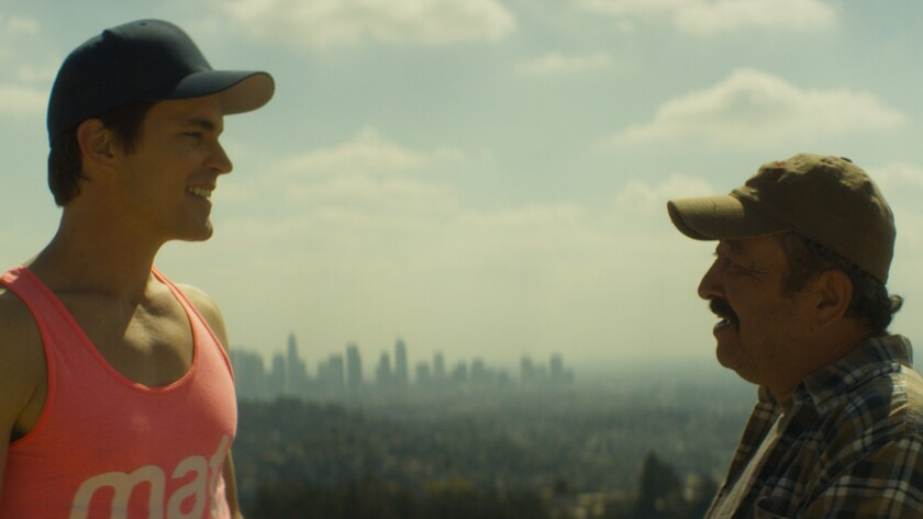 "(L-R)- Matt Bromer and Alejandro Patino in a scene from ""Papi Chulo."" Credit: Blue Fox Entertainment"