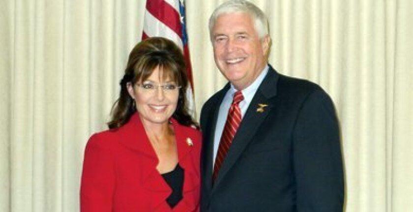 Major Michael Crimmins with Governor Sarah Palin