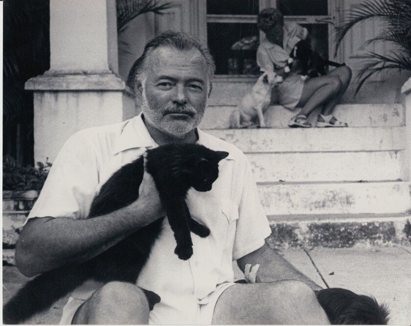 Ernest Hemingway, subject of a new documentary, at his home in Cuba.