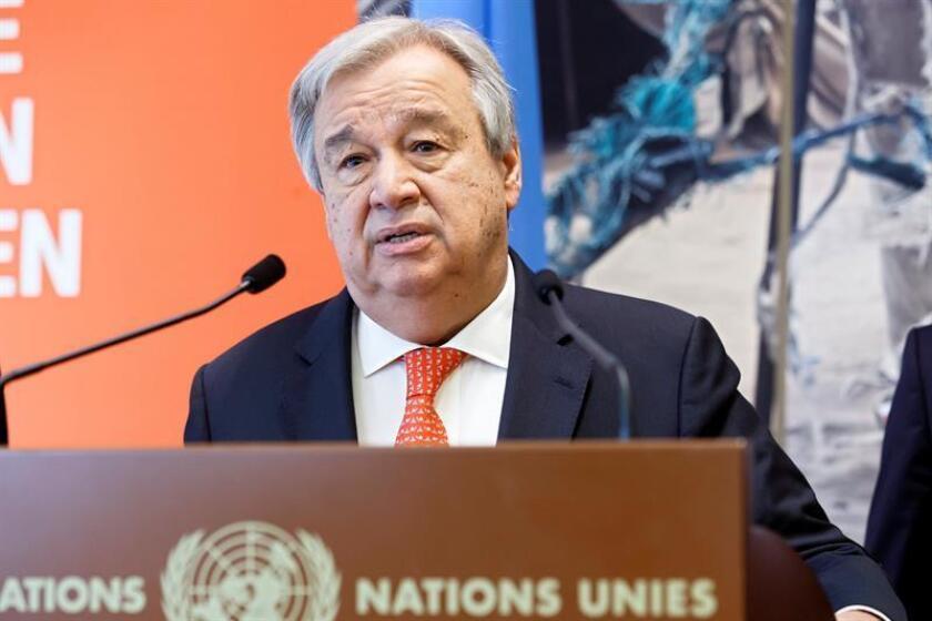 United Nations Secretary-General Antonio Guterres. EFE-EPA/File