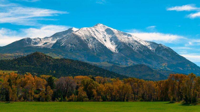 Colorado's Mount Sopris, the area where billionaire Leslie Wexner is trying to acquire 1,300 acres of public land that sit in the middle of his 4,000-acre estate.
